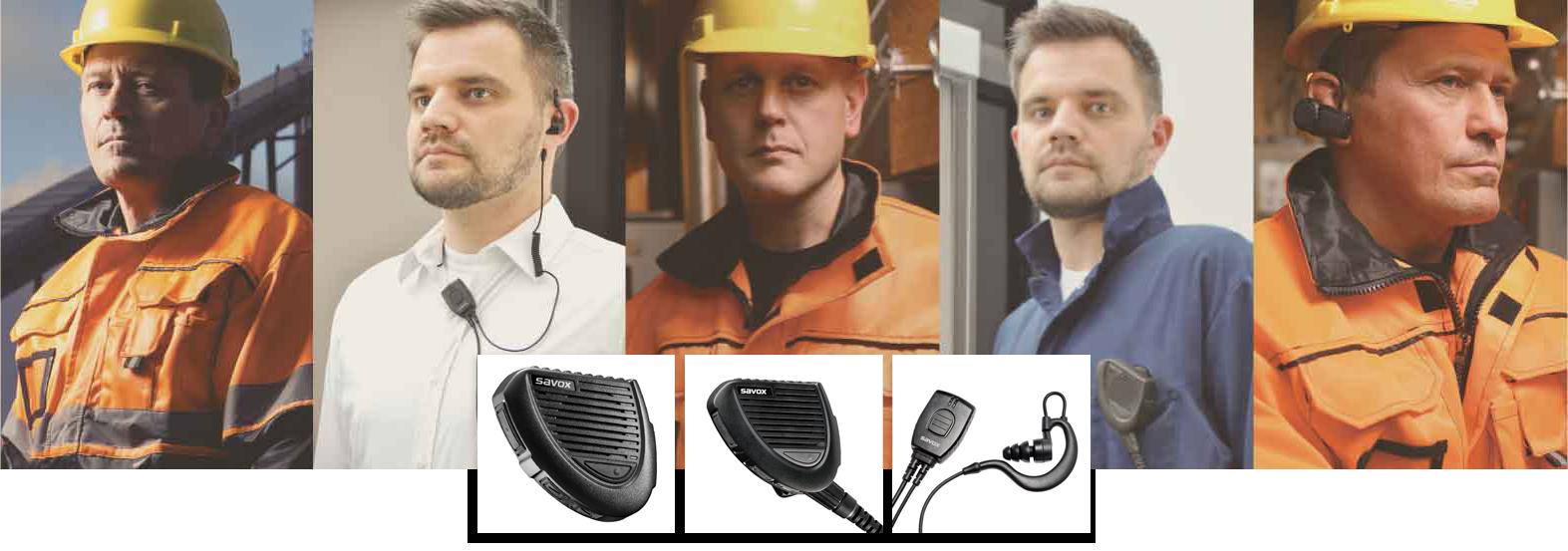スマホで利用できる防水防塵対応の高耐久スピーカーマイク、ヘッドセット